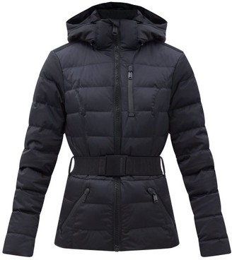 Goldbergh Soldis Belted Quilted Down Ski Jacket - Black
