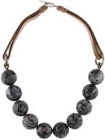 Brunello Cucinelli Labradorite Bead Necklace