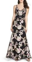 Xscape Evenings Women's Mesh Floral Gown