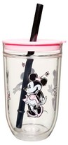 Minnie Mouse Disney®; Minnie Mouse 15oz Tumbler with Lid and Straw Pink