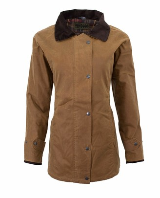 Walker And Hawkes Walker & Hawkes - Ladies Wax Antique Jacket Countrywear Hunting Waxed Coat - Beige - 16