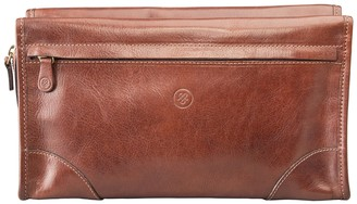 Maxwell Scott Bags Luxury Men S Tan Italian Leather Wash Bag