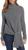 Halogen Petite Women's Tie Hem Sweater