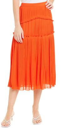 Tory Burch Pleated Midi Skirt