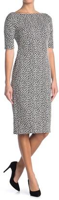 Maggy London Animal Print Sheath Dress