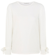 George Wide Arm Bow Detail Sweatshirt