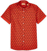 Scotch Shrunk LOBSTER-PRINT COTTON POPLIN SHIRT