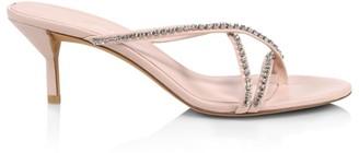 3.1 Phillip Lim Kiddie Crystal-Embellished Leather Thong Sandals