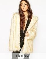 Story Of Lola Hooded Fluffy Faux Fur Coat