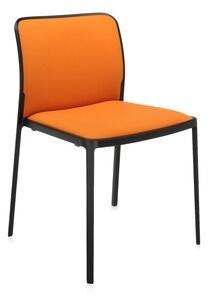 Kartell Audrey Guest Chair (Set of 2 Seat Color: Treviera Orange, Frame Finish: Black