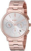 DKNY Women's 'Willoughby' Quartz Stainless Steel Casual Watch, Color:Rose Gold-Toned (Model: NY2541)
