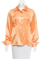 Christian Dior Embellished Button-Up Top