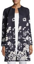 Lafayette 148 New York Makeda Augusto Impression Open-Front Topper Jacket, Plus Size