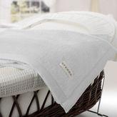 Sferra NEW St Moritz White Baby Blanket