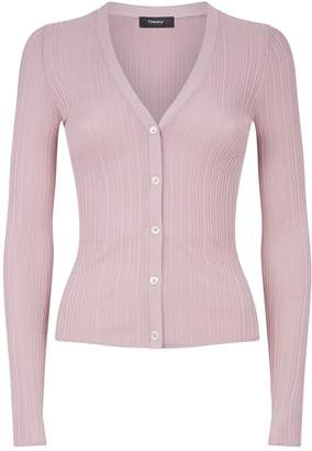 Theory Pointelle Buttoned Cardigan