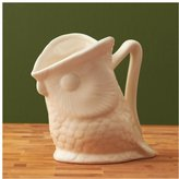 Twos Company Two's Company Small Owl Pitcher, Cream, Ceramic