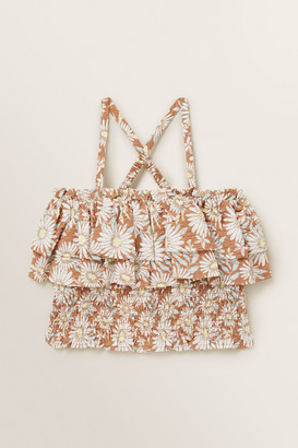 Seed Heritage Floral Shirred Top