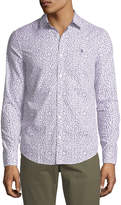 Original Penguin Floral-Print Long-Sleeve Sport Shirt