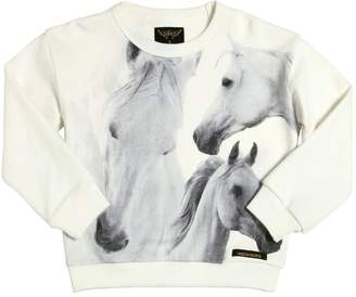 Finger In The Nose HORSES PRINT COTTON SWEATSHIRT