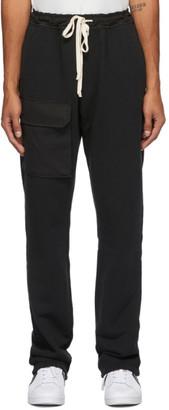 Reese Cooper Black Pocket Lounge Pants
