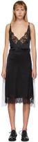 MM6 MAISON MARGIELA White and Black Back Panel Slip Dress