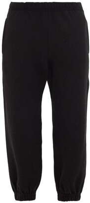 Raey Organic And Recycled-yarn Cotton-blend Track Pants - Black