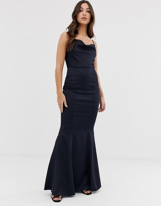 Lipsy cowl neck maxi dress in navy
