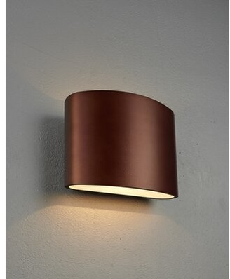 Bruck Lighting Encore 1-Light LED Flush Mount Shade Color: Bronze