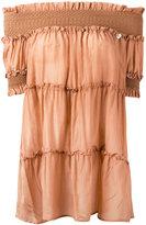 Twin-Set off-shoulder blouse - women - Silk/Cotton - 38