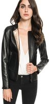 LAMARQUE - Lucille Reversible Metallic Leather Jacket