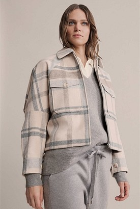 Witchery Check Car Coat