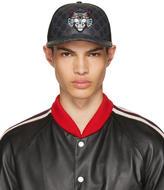 Gucci Black Angry Cat Gg Supreme Baseball Cap