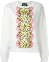 Moschino floral motif sweatshirt - women - Cotton - 40
