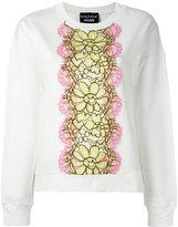 Moschino floral motif sweatshirt