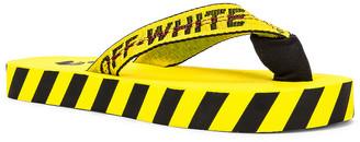 Off-White Flip Flop in Yellow & Black | FWRD