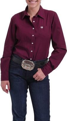 Cinch Women's Solid Long Sleeve Shirt