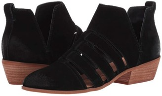 Frye Rubie Cutout Bootie (Black Suede) Women's Pull-on Boots