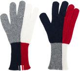 Thom Browne block colour gloves