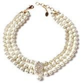 Amrita Singh Crystal Multi-strand Necklace.
