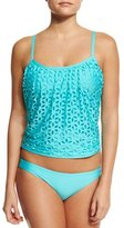 Luxe by Lisa Vogel Pandora Hipster Swim Bottom, Turquoise