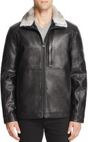 Andrew Marc Chatham Fur Collar Leather Jacket