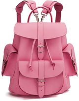Grafea Pink Lemonade Medium Leather Rucksack Pink