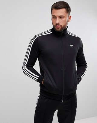adidas adicolor beckenbauer track jacket in black cw1250