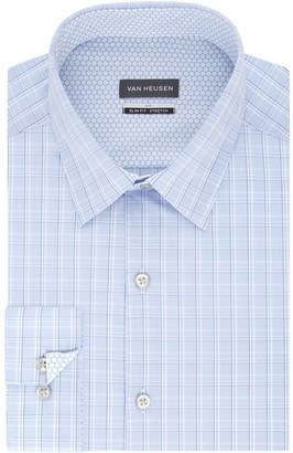 Van Heusen Men's Air Stretch Fitted Point-Collar Dress Shirt