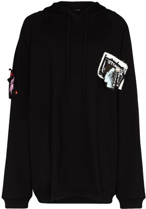Raf Simons Oversized Patch-Detailed Hoodie