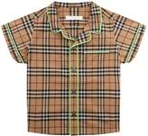 Burberry Pipe Detail Checked Shirt