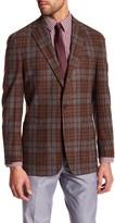Peter Millar The Napoli Mahogany Plaid 2 Button Notch Lapel Jacket