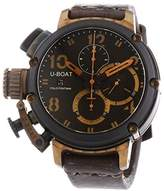 U-Boat U Boat 6946 Men's Chimera Black and Bronze Automatic Watch with Brown Dial Chronograph Display and Brown Leather Strap