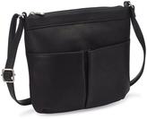Le Donne Black Ambrose Leather Crossbody Bag