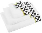 Mackenzie Childs Black & White Check Towel